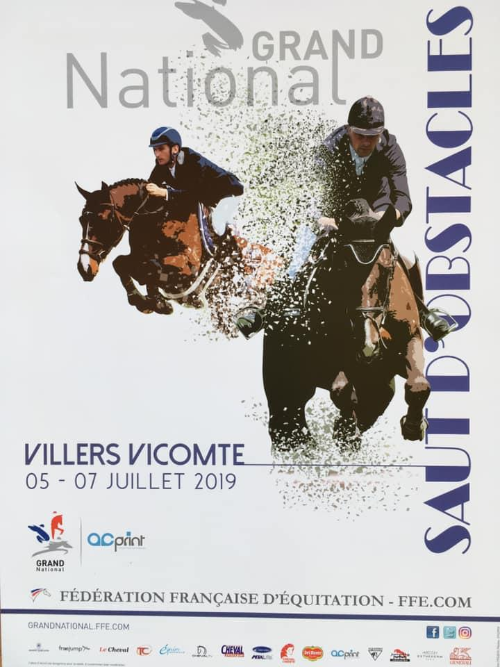 Grand National de Villers Vicomte du 04 au 07 Juillet 2019